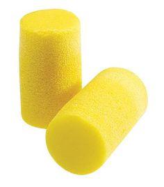 3M Large Single Use Classic Classic Plus Cylinder Shape PVC Foam Uncorded Earplugs (1 Pair Per Pillow Pack, 200 Pair Per Box)