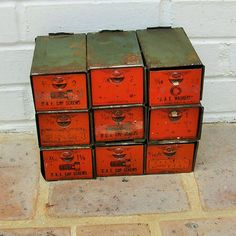 Antique Vintage Metal Dorman Drawers Add A Bin by timepassages