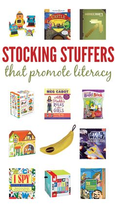 Our top stocking stuffer picks (they promote literacy!). Click for our Raise a Reader blog.