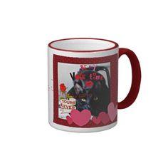 Cute Black Cat Yours furever Valentine Mug
