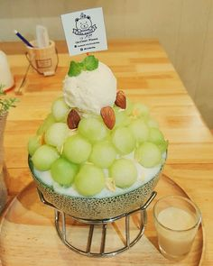 #melon #bingsu #kakikori