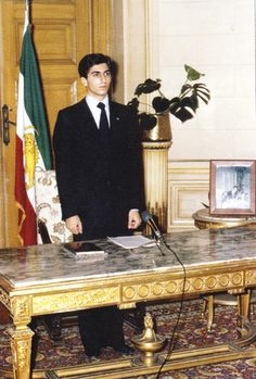 Crown Prince Reza Pahlavi after he was declared ''Shāhanshāh in Koubbeh Palace in Cairo