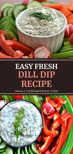 Fresh Dill Dip Recipe, Dill Dip Recipes, Party Dip Recipes, Easy Appetizer Recipes, Sauce Recipes, Appetizers, Summer Recipes, Dinner Recipes, Side Dishes Easy