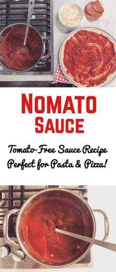 Nomato sauce easy recipe aip autoimmune paleo nightshade intolerance tomato allergy tomato free pasta pizza sauce easy recipes with pantry ingredients Autoimmun Paleo, Paleo Recipes, Paleo Sauces, Keto, Easy Pasta Recipes, Easy Meals, Tomato Free Pizza Recipes, Tomato Allergy, Tomato Pizza Sauce