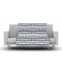 "Empire Ruhl ""51 Shades of Gray"" Gray White Fleece Throw Blanket | KESS InHouse"