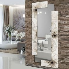 Awesome ideas for decorating the hallway with modern wall mirror designs, home interior wall mirror decor ideas for modern style apartments 2019 Living Room Designs, Living Room Decor, Bedroom Decor, Wall Decor, Bedroom Wall, Wall Art, Interior Walls, Home Interior Design, Stone Interior