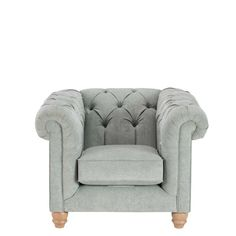 Add a classic look to your living room with the Morgan Chair in duck egg blue.