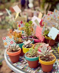 succulent wedding favours ideas
