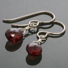 Red Garnet on Titanium Ear Wires  Earrings s13e013 by lavajewelry, $38.00