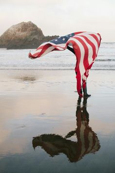 *Reflection - Lovely Sunrise Photo Walk at Sutro Baths in San Francisco, California American Spirit, American Pride, American Girl, American Flag Pictures, American Freedom, I Love America, God Bless America, Patriotic Pictures, Doodle