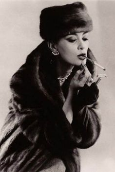 William Klein  Such stunning fashion from these day's..now of course, smoking and wearing fur are big social no no's