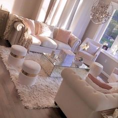 Cute Living Room, Decor Home Living Room, Glam Living Room, Warm Home Decor, Cozy Living Rooms, New Living Room, Apartment Living, Living Room Designs, First Apartment Decorating