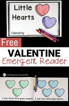 This valentine emergent reader is perfect for February! Build fluency and confidence while working on number and color words too. Great little reader for preschool or kindergarten. Preschool Classroom, Kindergarten Activities, Classroom Ideas, Future Classroom, Classroom Activities, Kindergarten Writing, Preschool Printables, Educational Activities, Preschool Ideas