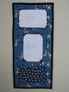 Quilted photo wall hanger. www.etsy.com/listing/183839853/quilted-wall-photo-displays?ref=shop_home_active_1