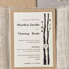 swig design rustic wedding announcement