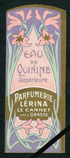 vintage perfume label images | Vintage French Perfume Soap Label Perfumerie Lerina Grasse France Eau ...