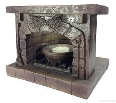 Mini Hearths for your Altar! HOW cool would this be to have on your altar? There is even a cauldron inside that holds a tealight, stones or can be used as an offering bowl! Get yours here @ Eclectic Artisans!!! http://www.eartisans.net/products/sacred-magical-altar-hearth