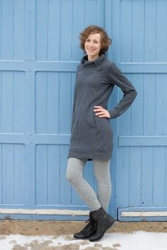 Jasper Sweater/Dress - Paprika Patterns. PDF pattern 14.00$. Tutorial available. Include cute Hoodie pattern.