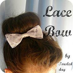 tousled day: Čipkasta mašna / Lace Bow DIY