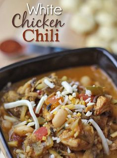This is a fantastic, homemade White Chicken Chili recipe. Its a delicious clean eating recipe that is sure to impress! Enjoy this White Chil...