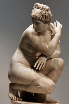 Lely's Venus, showing Aphrodite surprised as she bathes. Roman copy of the Imperial era after the Greek Hellenistic original, marble, 2nd century AD.