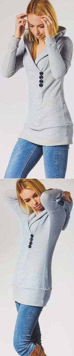 Happily grey makes casual chic again. ONLY $23.99 can you catch it! DO NOT miss it at CUPSHE.COM !