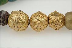 Viking age / gold beads/ Gotland