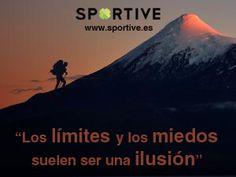 Los límites y los miedos suelen ser una ilusión #limites #sueños #montaña #deporte #motivación #frases