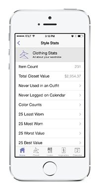 Develop your personal style by tracking how you use the clothes in your wardrobe with Stylebook!