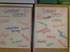 Posters: Compliant learners and Engaged learners