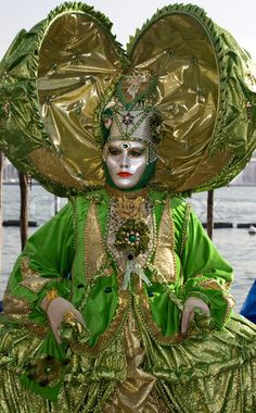 Night Venice Carnival Masks | Stock image of 'mask from venice carnival - green'