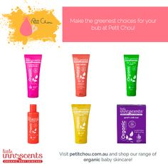 Introducing our 100% organic baby skincare range sourced from Little Innoscents! Make the greenest choices for your precious! Shop at petitchou.com.au.