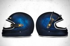 Riding Gear - Big Bore Flake Azul Helmet | Return of the Cafe Racers