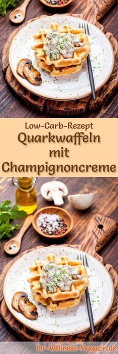 Low-Carb-Rezept für Quarkwaffeln: Kohlenhydratarm, eiweißreich, kalorienreduziert, ohne Getreidemehl, gesund ... #lowcarb #frühstück