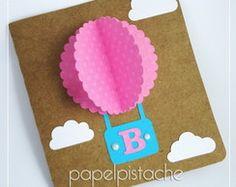 Convite Balão com pérolas