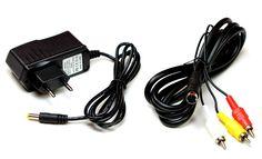Sega Mega Drive 2 AV Cinch Kabel + Netzteil für Sega Mega Drive 2 (Neu)