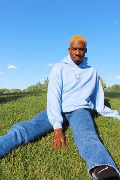 Awful3 Hoodie in Light Blue Blue Hoodie, Hoodies, Sweatshirts, Rib Knit, Light Blue, Athletic, Stylish, Celebrities, Summer