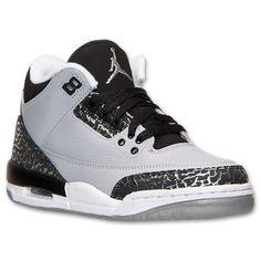 Boys' Grade School Air Jordan Retro 3 Basketball Shoes| Finish Line | Wolf Grey/Metallic Silver/Black/White