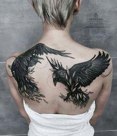 Imagen de tattoo and raven