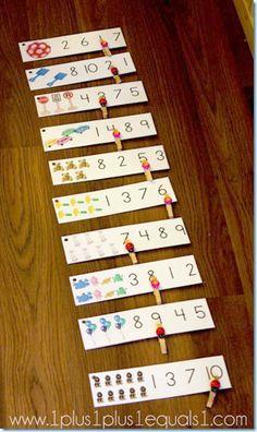 Relacionar cantidad y grafía: ¿Cuántos hay? - Aprendiendo matemáticas