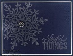 Festive Flurry Illuminate Snowflake Tidings by Michelerey - Cards and Paper Crafts at Splitcoaststampers