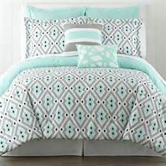 coral teal and grey floral comforters - Bing images