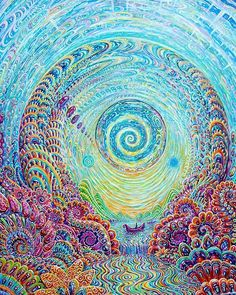 Psychedelic nature in dance of the universe and life, reveals the harmony within the structure of reality. Alex Gray Art, Psychadelic Art, Underwater Art, Psy Art, Hippie Art, Visionary Art, Sacred Art, Surreal Art, Fractal Art