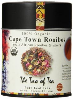 The Tao of Tea Cape Town Rooibos Tea Loose Leaf 4 Ounce Tin -- Continue to the product at the image link. (This is an affiliate link and I receive a commission for the sales) Dried Orange Peel, Red Rose Petals, Coffee Store, Tea Tins, Pure Leaf Tea, Brewing Tea, Coffee Drinks, Gourmet Recipes, Cape Town
