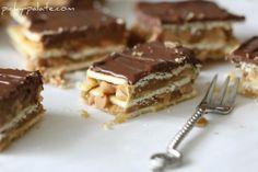 Chocolate, Carmel and peanut butter bars