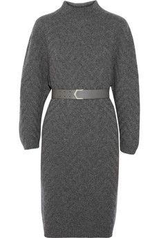 Fendi Chevron-patterned cashmere sweater dress | NET-A-PORTER