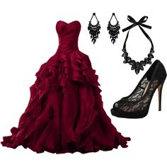 A fashion look from December 2014 featuring Vince Camuto pumps, Boohoo necklaces und Oasis earrings. Browse and shop related looks. Masquerade Dresses, Masquerade Party, Evening Dresses, Prom Dresses, Wedding Dresses, Quinceanera Dresses, Vampire Dress, Estilo Dark, Ballroom Gowns
