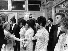 eb756077 November Elizabeth, the Queen Mother - goes backstage to meet the Supremes,  Engelbert Humperdinck, Frankie Howerd and Petula Clark after a Royal  Variety ...