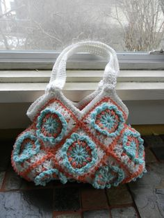 Granny Square Hobo Purse CROCHET PATTERN  Instant by Glamour4You, $5.00