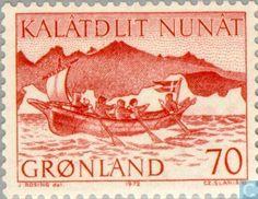 Stamps - Greenland - Post Transport-Boat 1972